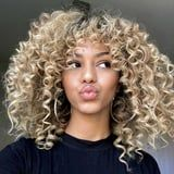 Curtain Bangs on Curly Hair Are What Our Hair Dreams Are Made Of
