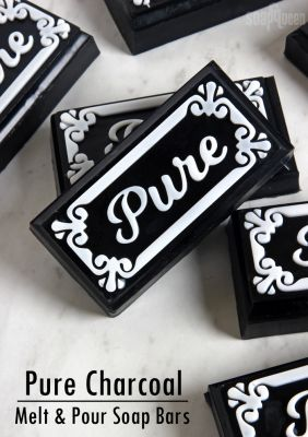 Pure Charcoal Melt & Pour Soap DIY - Silicone Mold Sale Starts Today!