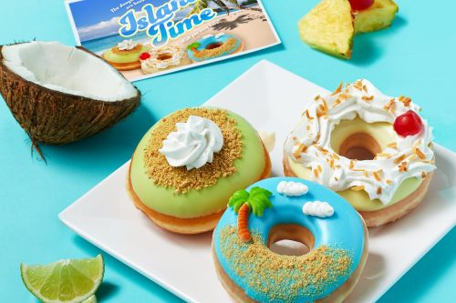 Krispy Kreme's Island Time Doughnut Collection Is Super Tropical